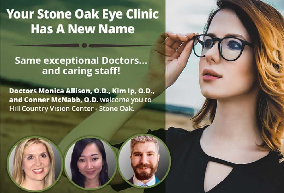Stone Oak Vision is now Hill Country Vision Center